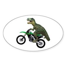 Dirt Bike Wheelie T Rex Decal