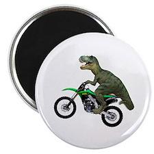 Dirt Bike Wheelie T Rex Magnet