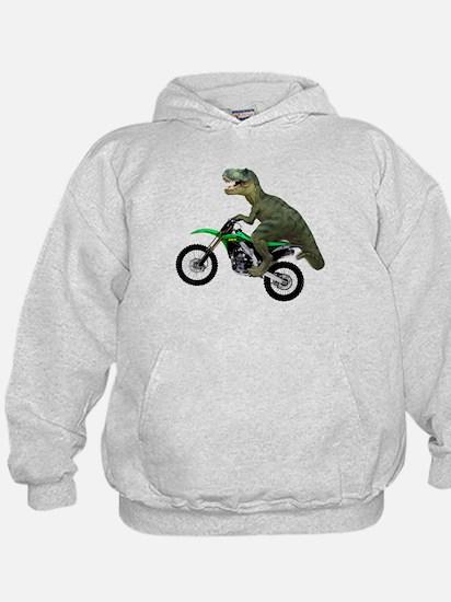 Dirt Bike Wheelie T Rex Hoodie