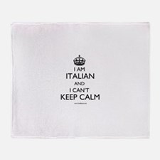 I AM ITALIAN AND I CAN'T KEEP CALM Throw Blanket