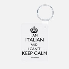 I AM ITALIAN AND I CAN'T KEEP CALM Keychains