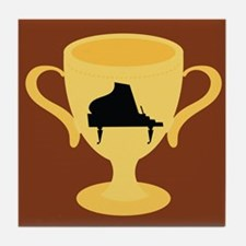 Piano Trophy Award Tile Coaster