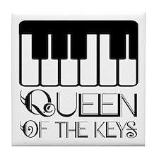 Piano Queen of the Keys Tile Coaster