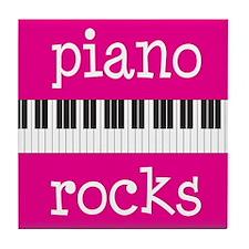 Piano Rocks Music Tile Coaster