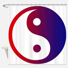 Red and Blue Yin Yang Shower Curtain