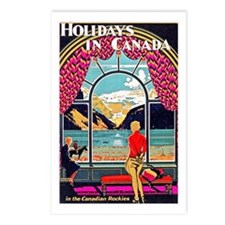 Canada Travel Poster 10 Postcards (Package of 8)
