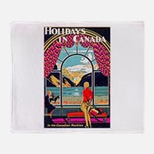 Canada Travel Poster 10 Throw Blanket