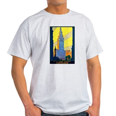 Cleveland Travel Poster 2 Light T-Shirt