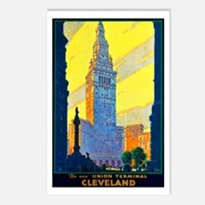 Cleveland Travel Poster 2 Postcards (Package of 8)