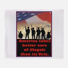 America takes better care Throw Blanket