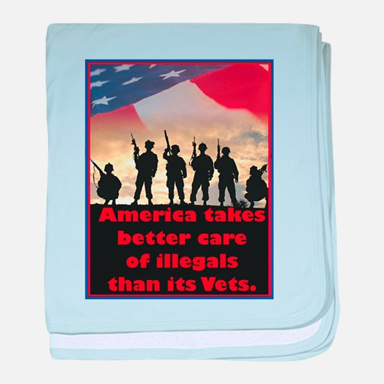 America takes better care baby blanket