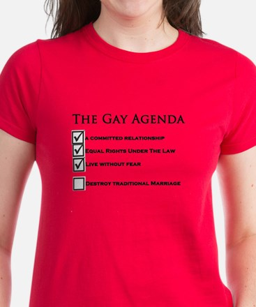 The Gay Agenda Women's Dark T-Shirt