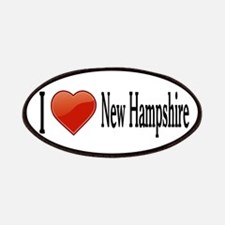 I Love New Hampshire Patches