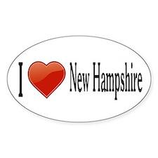I Love New Hampshire Stickers