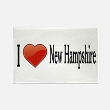 I Love New Hampshire Rectangle Magnet