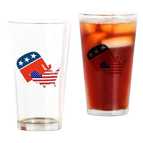 Screwing America Drinking Glass