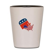 Screwing America Shot Glass
