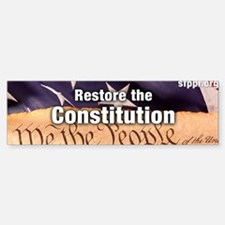 Restore the Constitution Bumper Bumper Sticker