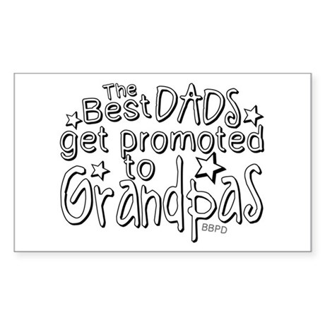 Grandpas are the best Sticker (Rectangle)