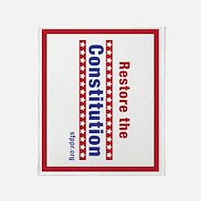 Restore the Constitution Throw Blanket