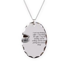 Cute Coffee girl Necklace