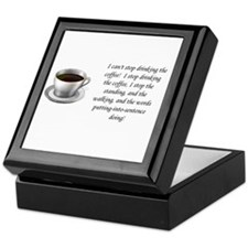 Cute Coffee girl Keepsake Box