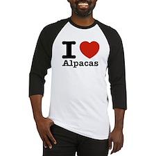 I Love Alpacas Baseball Jersey