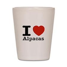 I Love Alpacas Shot Glass