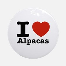 I Love Alpacas Ornament (Round)