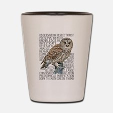 dictowl Shot Glass