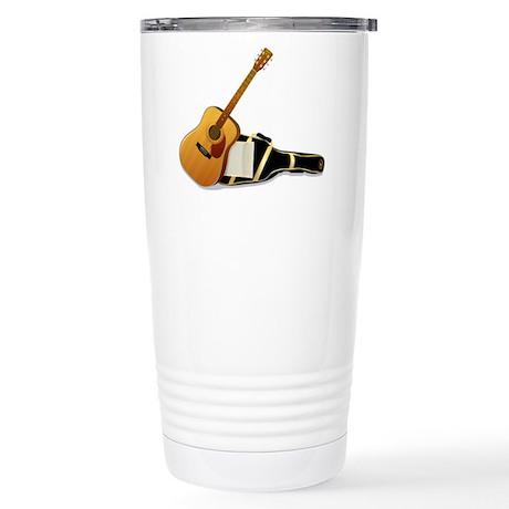 Acoustic Guitar Stainless Steel Travel Mug
