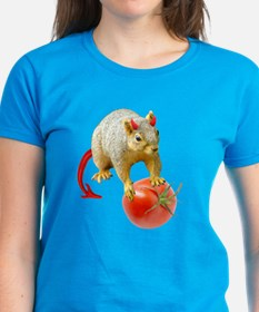 Devil Squirrel Stealing Tomato Tee