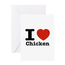 I Love Chicken Greeting Card