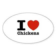 I Love Chicken Decal
