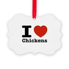I Love Chicken Ornament