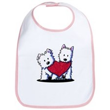 Heartfelt Westies Bib