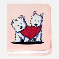 Heartfelt Westies baby blanket
