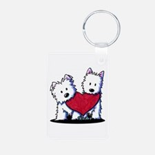 Heartfelt Westies Aluminum Photo Keychain