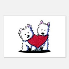 Heartfelt Westies Postcards (Package of 8)