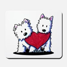 Heartfelt Westies Mousepad