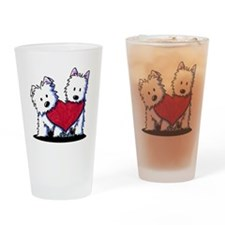 Heartfelt Westies Drinking Glass