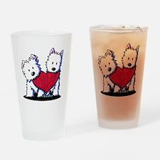 Heartfelt Westies Drinking Glass