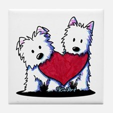 Heartfelt Westies Tile Coaster