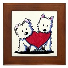 Heartfelt Westies Framed Tile