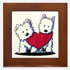 Heartfelt Westies Framed Tile