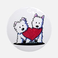 Heartfelt Westies Ornament (Round)