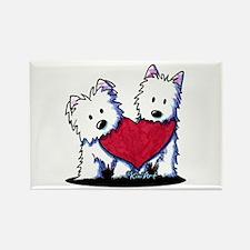 Heartfelt Westies Rectangle Magnet (100 pack)