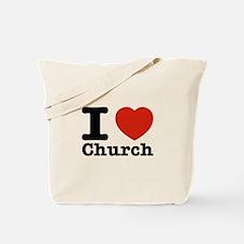 I Love Church Tote Bag