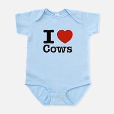I Love Cows Infant Bodysuit