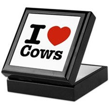 I Love Cows Keepsake Box